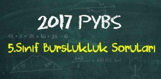 5.Sınıf Bursluluk Sınavı Soruları Çöz 2017