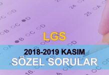 2018-2019 lgs örnek soruları çöz sözel kasım