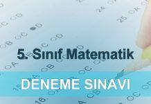 5. sınıf matematik deneme sınavı çöz