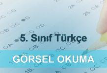 5. sınıf kazanım testleri Türkçe görsel okuma testi çöz