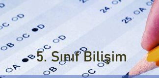 5. Sınıf Bilişim Teknolojileri 2. Dönem 1. yazılı Soruları Çöz 2020