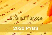 2020 PYBS 5. Sınıf Türkçe Testi Çöz