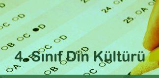 4. Sınıf Din Kültürü 2. Dönem 1. Yazılı Soruları Çöz