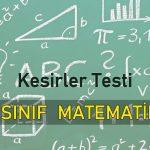 4. Sınıf Kesirler Testi Çöz 2020
