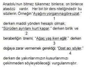 6. sınıf pybs 2018 türkçe soruları çöz