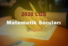 2020 lgs matematik soruları çöz