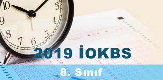 2019 İOKBS 8. Sınıf Matematik Testi Çöz
