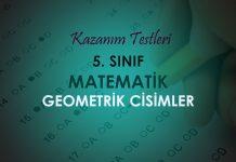 5. Sınıf Matematik Geometrik Cisimler Testi Çöz