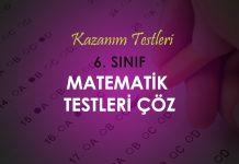 6. Sınıf Matematik Testleri Çöz Tüm Konular 2020-2021