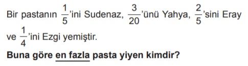 6. sınıf matematik kesirlerle işlemler testleri çöz