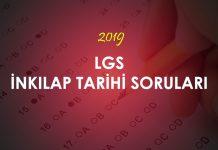 2019 LGS İnkılap Tarihi Soruları Çöz