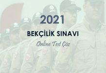 2021 bekçilik sınavı soruları çöz